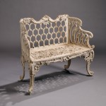 White-painted Rococo-style Cast Iron Garden Settee (Lot 835, Estimate $400-$600)