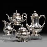 Four-piece Gorham Martele .9584 Silver Tea and Coffee Service, Providence, Rhode   Island (Lot 225, Estimate $12,000-$18,000)