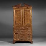 Victorian Yew Wood Linen Press, last half 19th century (Lot 588, Estimate $1,500-  $2,500)