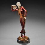 Paul Phillippe (French, 1870-1930)  Art Deco Cold-painted Bronze and Ivory Figure   of a Spanish Dancer (lot 764, Estimate $800-$1,200)