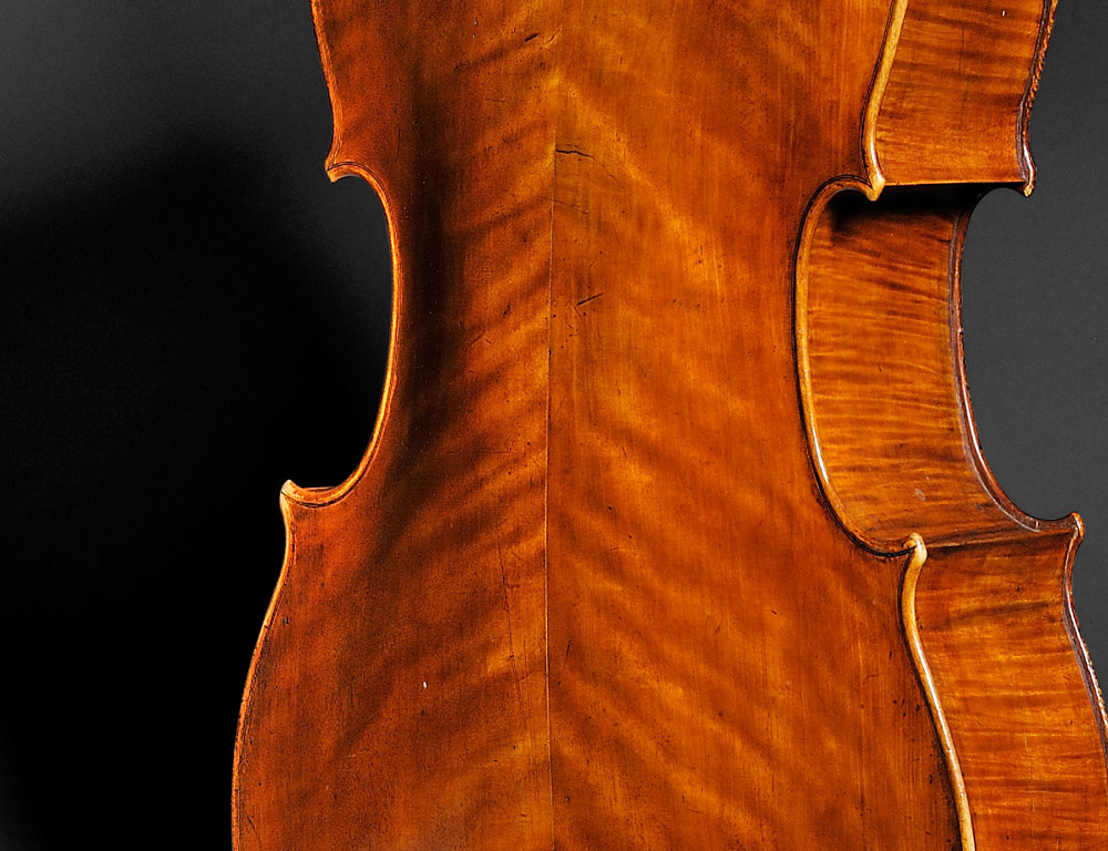 [Detail] Fine English Violoncello, John Betts, London, 1782 (Lot 41, Estimate $60,000-$80,000)