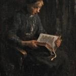 Josef Israels (Dutch, 1824-1911), Sunday Morning (Lot 352, Estimate $20,000-$30,000)