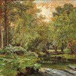 William Trost Richards (American, 1833-1905), The Stream at the Forest's Edge (Lot 389, Estimate $5,000-$7,000)