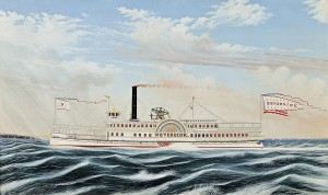 Portrait of the Sidewheeler Steamboat NEVERSINK