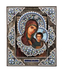 Russian Icon Depicting Our Lady of Kazan