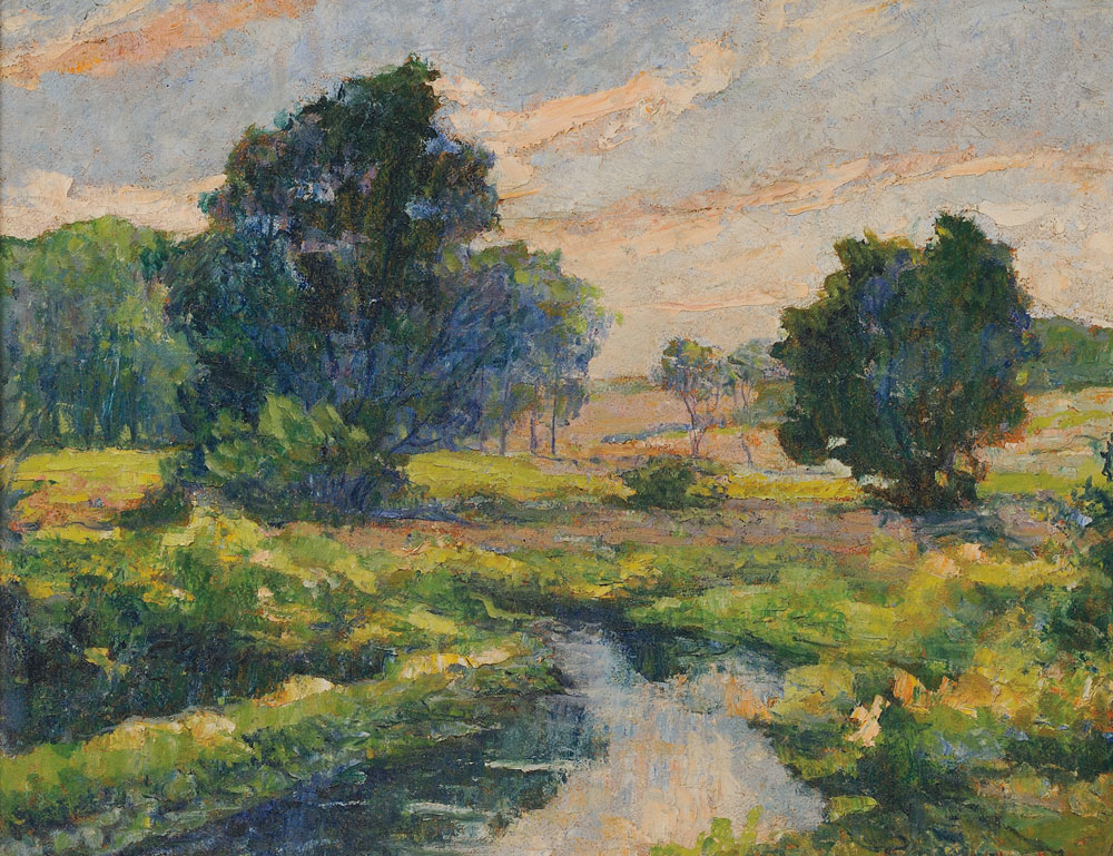William Mark Fisher (American, 1841-1923), The Stream Through the Meadow, Teaneck. (Lot   112, Estimate $400-$600)