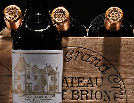 1989 Chateau Haut-Brion, 6 bottles (Estimate $5,500-7,500)