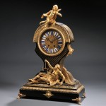 Figural Boulle Mantel Clock, France, c. 1860 (Lot 350, Estimate $3,000-$5,000)