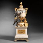 French White Marble and Ormolu Annular Dial Clock, c. 1800 (Lot 361, Estimate $15,000-$25,000)