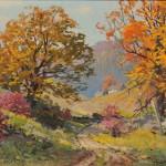 Adolph Heinze (American, 1887-1958) Autumn Hillside (Lot 25, Estimate   $600-$800)