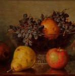 Frederick Stone Batcheller (American, 1837-1889), Still Life with Fruit   in a Footed Glass Bowl (Lot 310, Estimate $2,000-$3,000)