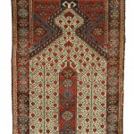Beshir Prayer Rug, West Turkestan, first half 19th century (Lot 117, Estimate $15,000-$20,000)