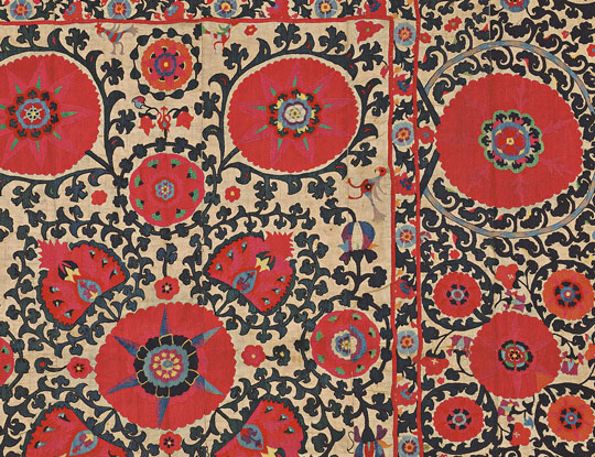 Central Asian Suzani, 19th century (Lot 118, Estimate $2,000-$3,000)