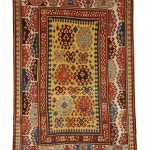 Bordjalou Kazak Rug, Southwest Caucasus, second half 19th century (Lot 125, Estimate $5,000-$7,000)