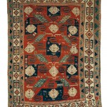 'Pinwheel' Kazak Rug, Southwest Caucasus, mid-19th century (Lot 129, Estimate $15,000-$20,000)