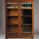 Two Door Oak and Leaded Glass Four Stack Bookcase, Early 20th Century (Lot 772, Estimate   $250-$350)