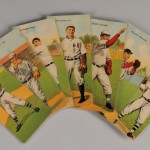 Fourteen 1911 T201 Mecca Cigarettes Double Folder Baseball Cards (Lot 410, Estimate   $300-$400)
