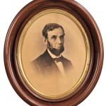 Lincoln, Abraham (1809-1865) Photographic Portrait by Alexander Gardner (1821-1882) Washington D.C., 9 August 1863 (Lot 35, Estimate $20,000-$30,000)