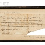 Randolph, Thomas Jefferson (1792-1875) Receipt for Moses Gillette, 1 January 1829 (Lot 46, Estimate $2,000-$3,000)