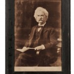Twain, Mark (1835-1910) Signed Photograph, Framed (Lot 54, Estimate $6,000-$8,000)