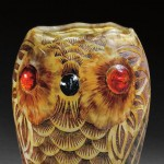 Daum Owl Vase, Art glass, Nancy, France, c. 1902 (Lot 144, Sold for $1,200)