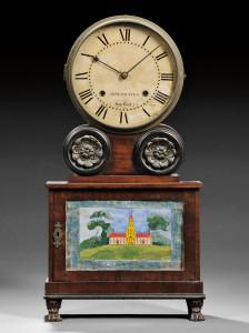 Lot 484 Mahogany 'Brooklyn' Lever Spring Shelf Clock