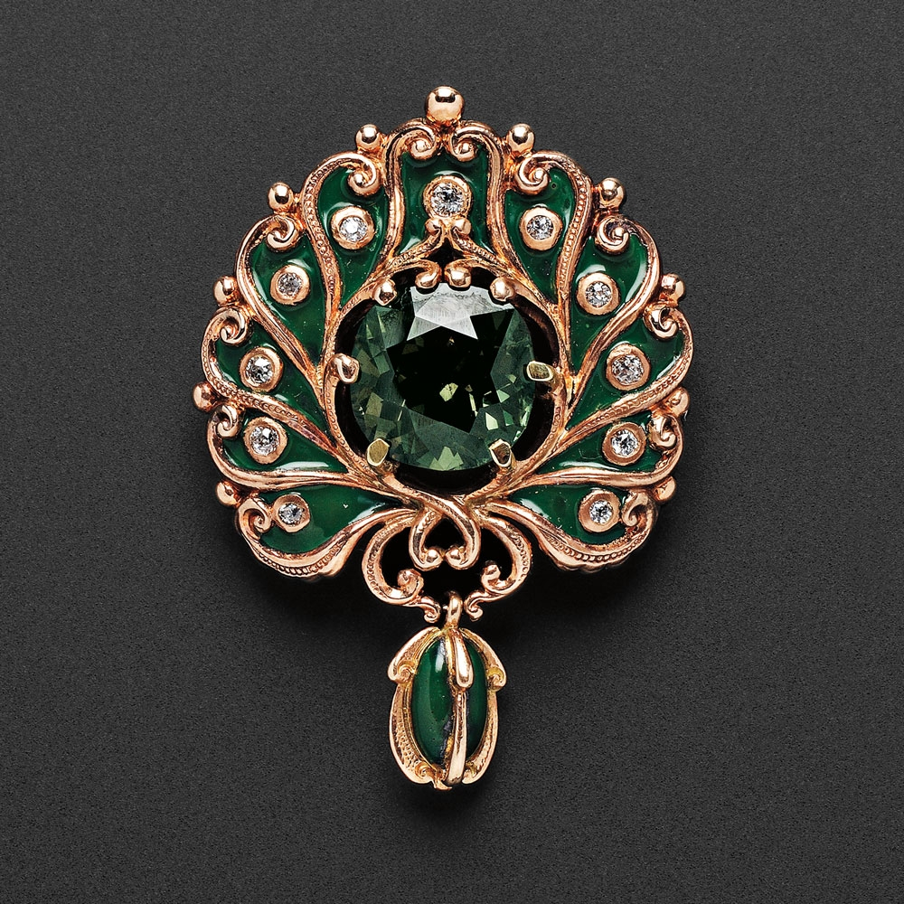 Marcus company jewelry the little known story skinner inc art nouveau 18kt rose gold and alexandrite pendant brooch marcus co lot 586 estimate 60000 80000 aloadofball Choice Image