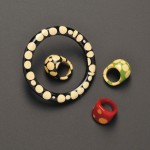 Four Polka Dot Bakelite Jewelry Items (Lot 421, Estimate $200-$300)