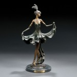 Louis Icart (French, 1888-1950) 'Sophistication' Bronze Sculpture (Lot   868, Estimate $300-$500)