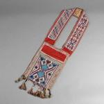 Great Lakes Loom-Beaded Cloth Bandolier Bag (Estimate $800-$1,200)