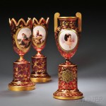 Examples from a Collection of Bohemian Glass (Lots 201 and 202, Each Estimated at $600-$800)