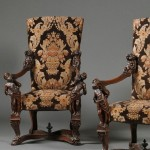 Pair of Venetian Baroque-style Carved Walnut Armchairs (Lot 221, Estimate $2,000-$4,000)