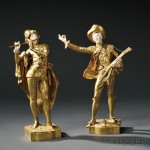 Pair of Gilt-bronze and Ivory Musicians, After Auguste Moreau (French, Late 19th Century)   (Lot 500, Estimate $3,000-$5,000)