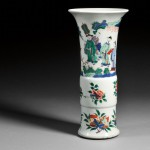 Wucai Gu Vase, China, 19th/20th century (Lot 109, Estimate $4,000-$6,000)