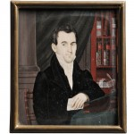 Anthony and/or Nina Meucci (Spanish/American, ac. 1818-1826/27) Portrait Miniature of a Gentleman in His Library (Lot 43, Estimate $3,000-$5,000)