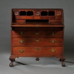 Chippendale Carved Birch Slant-lid Desk, probably Newburyport, Massachusetts,   early 19th century (Estimate $3,000-$5,000)