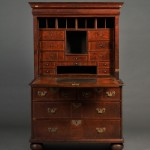 William & Mary Walnut and Walnut Veneer Escritoire or Fall-front Desk,   Philadelphia, Pennsylvania, c. 1705-10 (Estimate $30,000-$50,000)