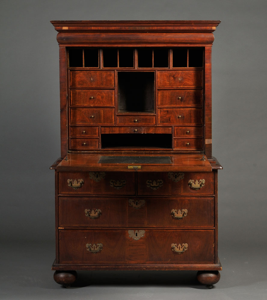 American Furniture - Americana Auction Grosses $1.5 Million Rare Escritoire Acquired