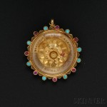 18kt Gold Gem-set Charm, Van Cleef & Arpels, France (Lot 695, Estimate $2,000-$3,000)