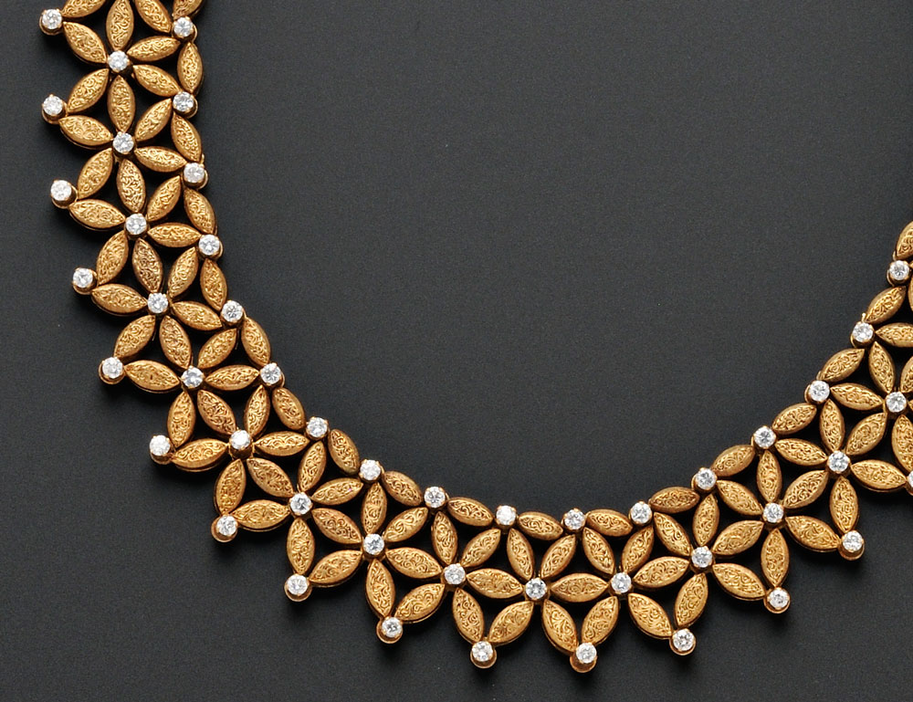18kt Gold and Diamond Necklace, Mario Buccellati (Lot 711, Estimate $15,000-$20,000)