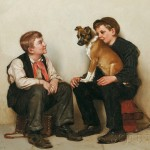 John George Brown (American, 1831-1913), Two Shoeshine Boys with a Dog (Lot   599, Estimate $20,000-$30,000)