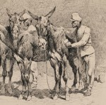Frederic Remington (American, 1861-1909), Stable Call at an Artillery Barrack, 1889 (Lot 616, Estimate $35,000-$55,000)