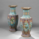 Pair of Chinese Cloisonne Palace Vases, 19th century (Lot 548,   Estimate $2,000-$4,000)