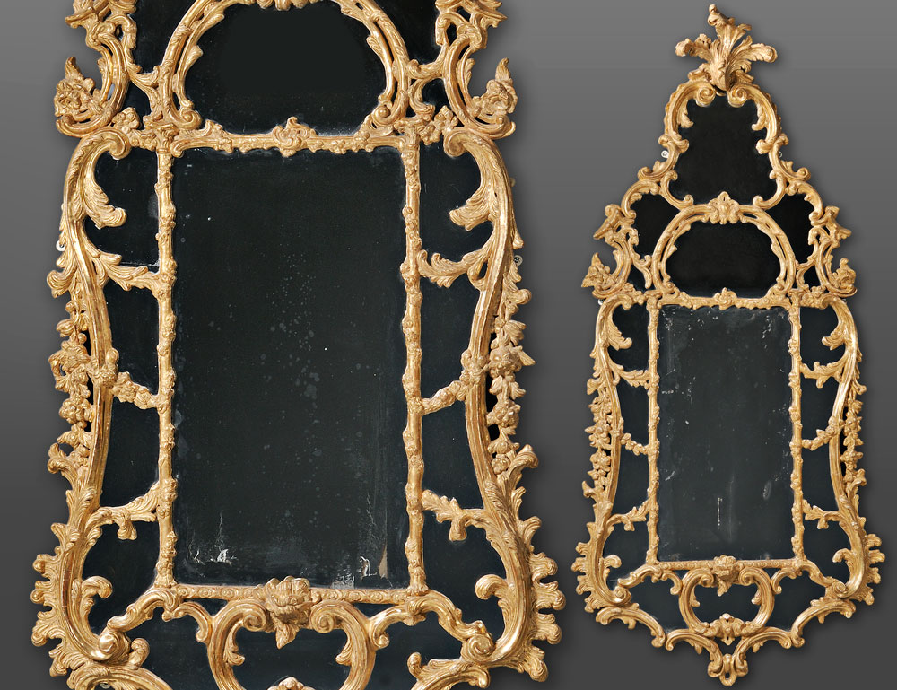 Pair of George III-style Carton Pierre Pier Mirrors in the manner of John Linnell (Lot 596, Estimate $60,000-$80,000)