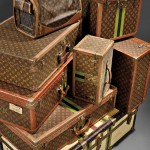 Vintage Louis Vuitton Travel Cases, Suitcases, and Dog Carrier (Lots 701-707)