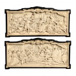 Pair of Carved Ivory Plaques, Continental, possibly Dieppe, France,   19th century (Lot 887, Estimate $700-$900)