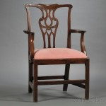 Chippendale Mahogany Armchair, England, mid-18th century (Lot 1225, Estimate $300-$500)