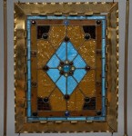 Brass and Slag-glass Firescreen, 20th century (Lot 1359, Estimate $300-$500)