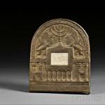 Bezalel Brass Framed Ivory Plaque, Boris Schatz, Jerusalem, early 20th century   (Lot 139, Estimate $800-$1,200)