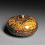 Safavid-style Polychrome Lacquered Papier-mache Casket, Iran, Qajar period, 18th century (Lot 6, Estimate $16,000-$20,000)